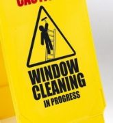 'Caution Window Cleaning' sign (PS124WIND)